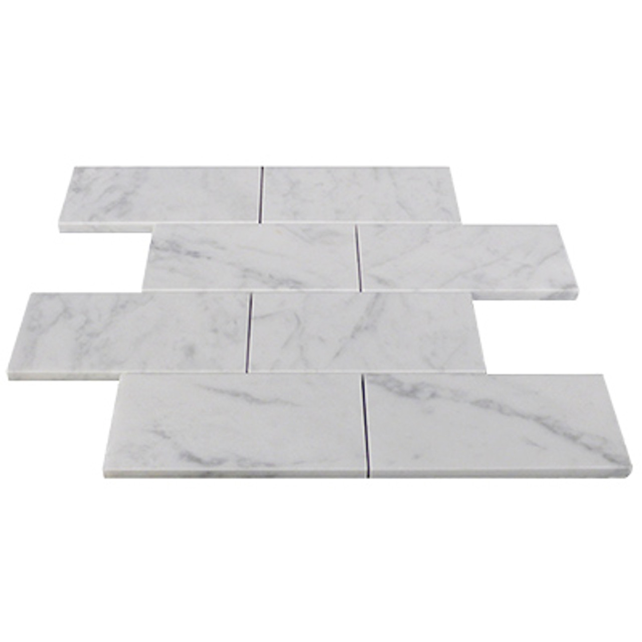 italian carrara white marble 3 x 6 subway tile honed