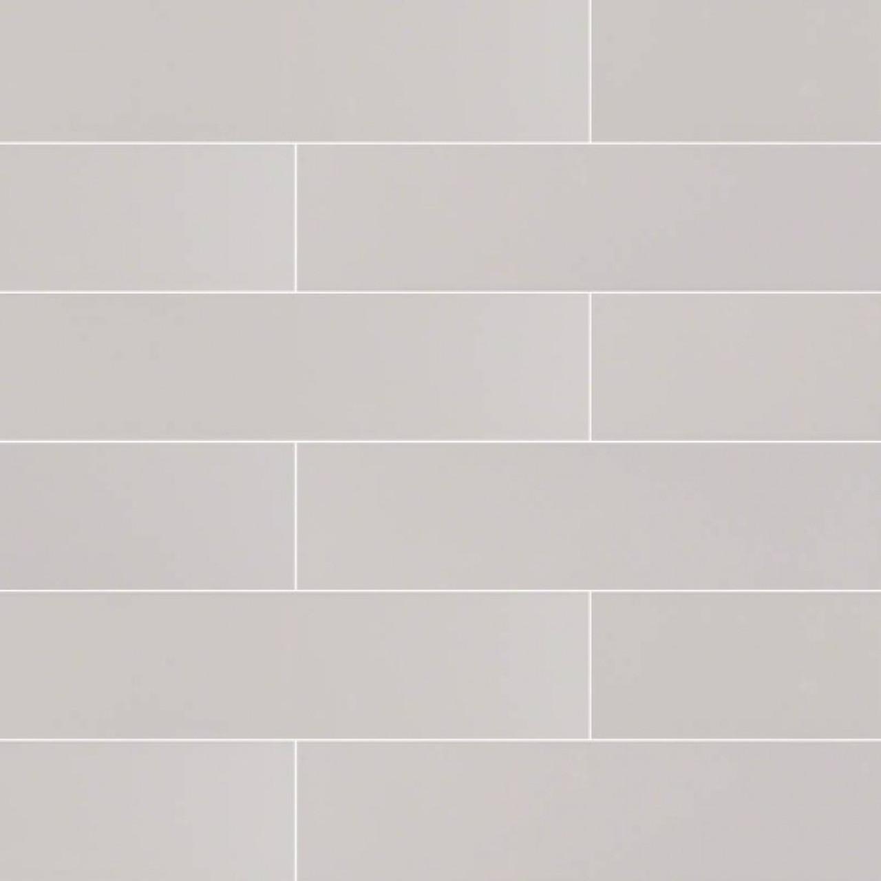 ms international backsplash series domino gray glossy 4x16 subway tile ngraglo4x16