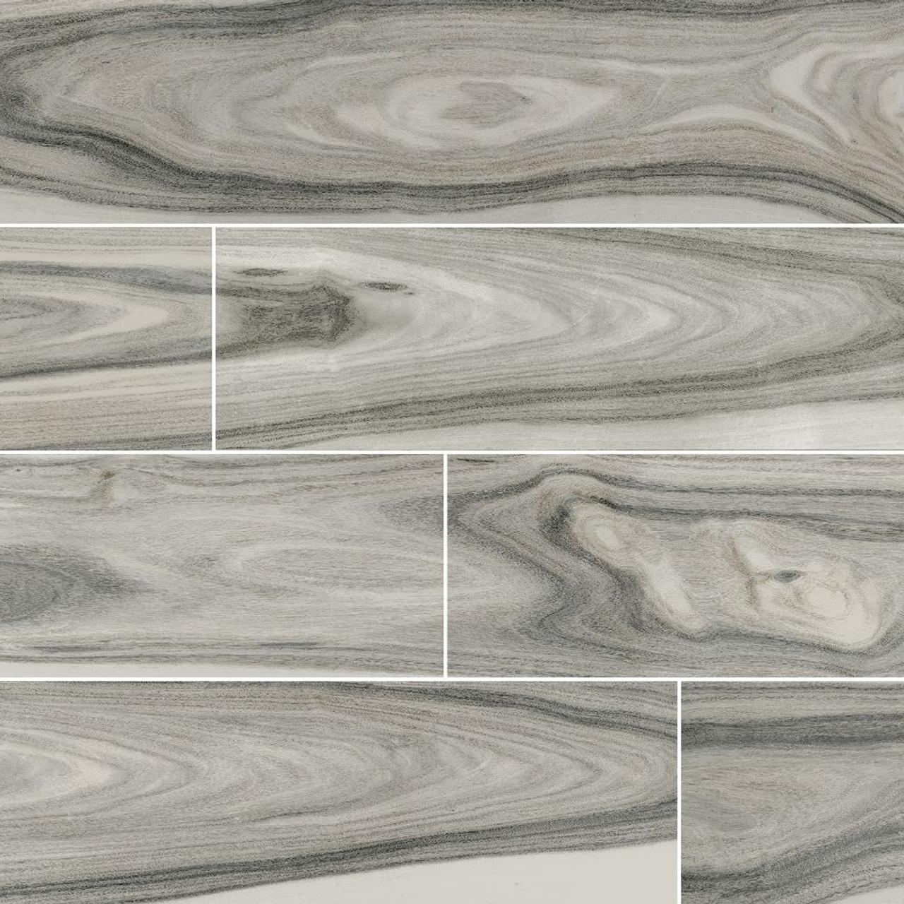ms international dellano series moss grey 8x48 polished wood look porcelain tile ndelmosgrey8x48p