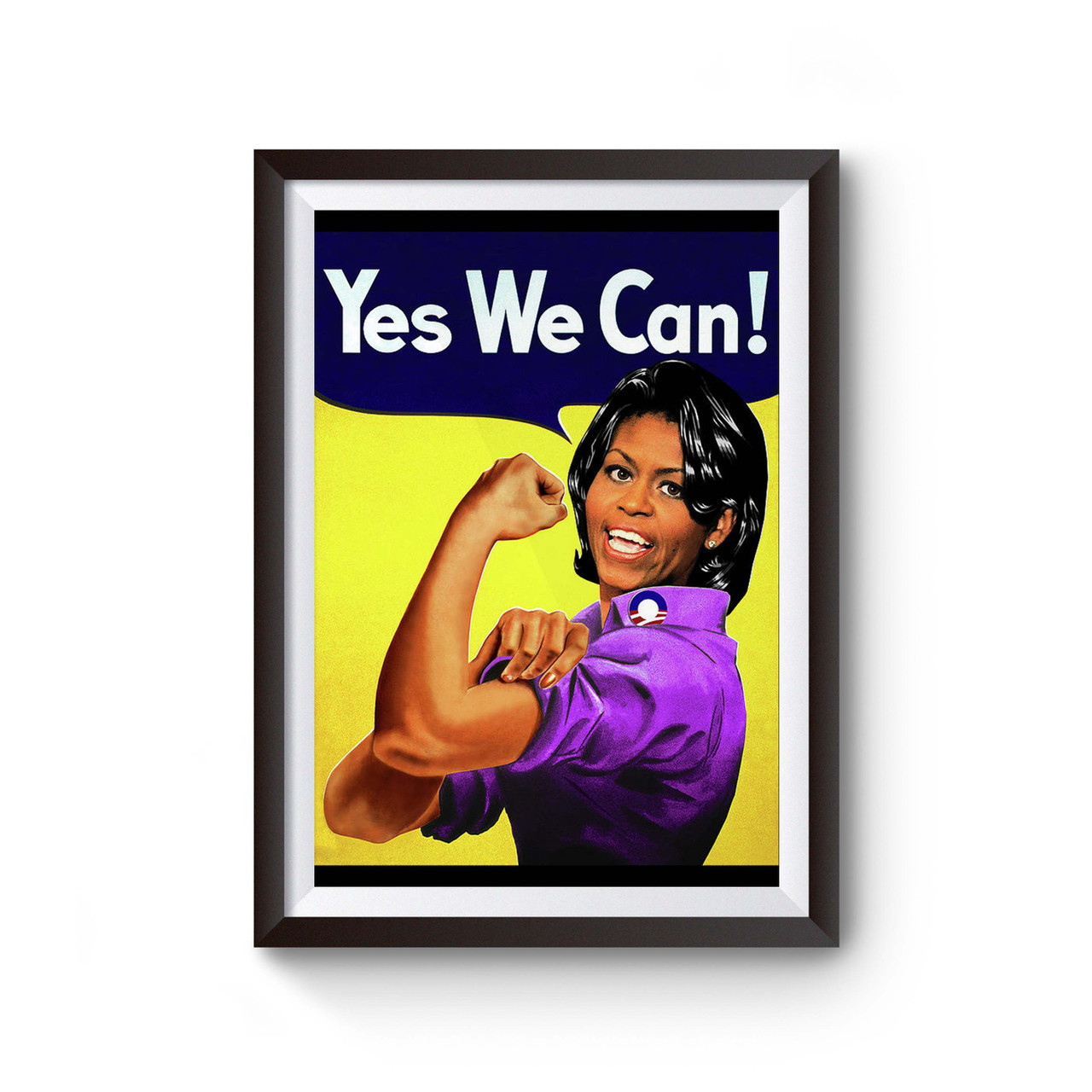 yes we can michelle obama as rosie poster