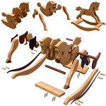 Antique 1890 Rocking Horse For Toddlers Wood Toy Plans