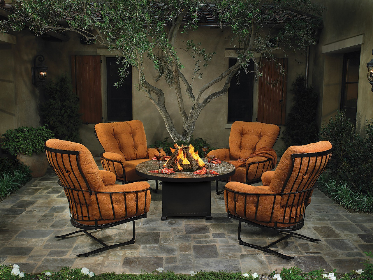 monterra firepit lounge 5pc set by ow lee