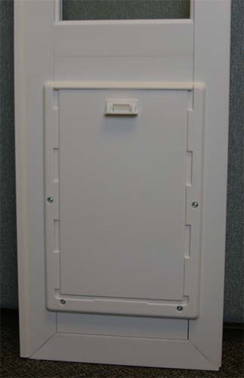 ideal vip vinyl insulated patio pet door insert