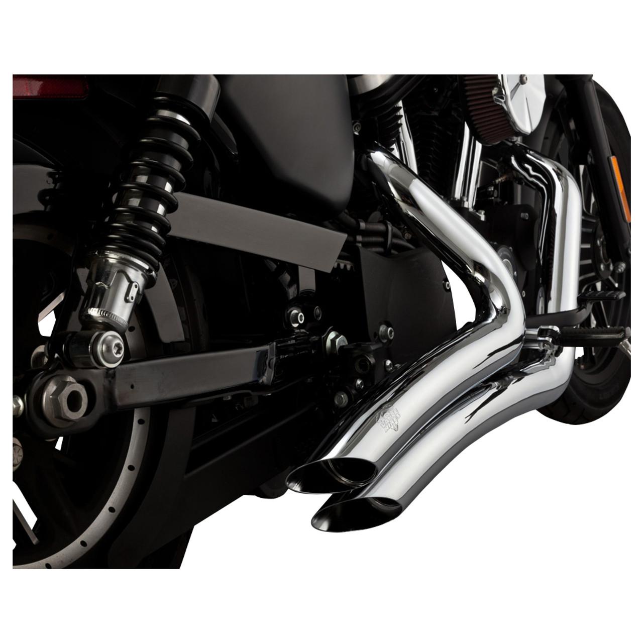 vance hines 26067 chrome big radius exhaust system sportster 14 20
