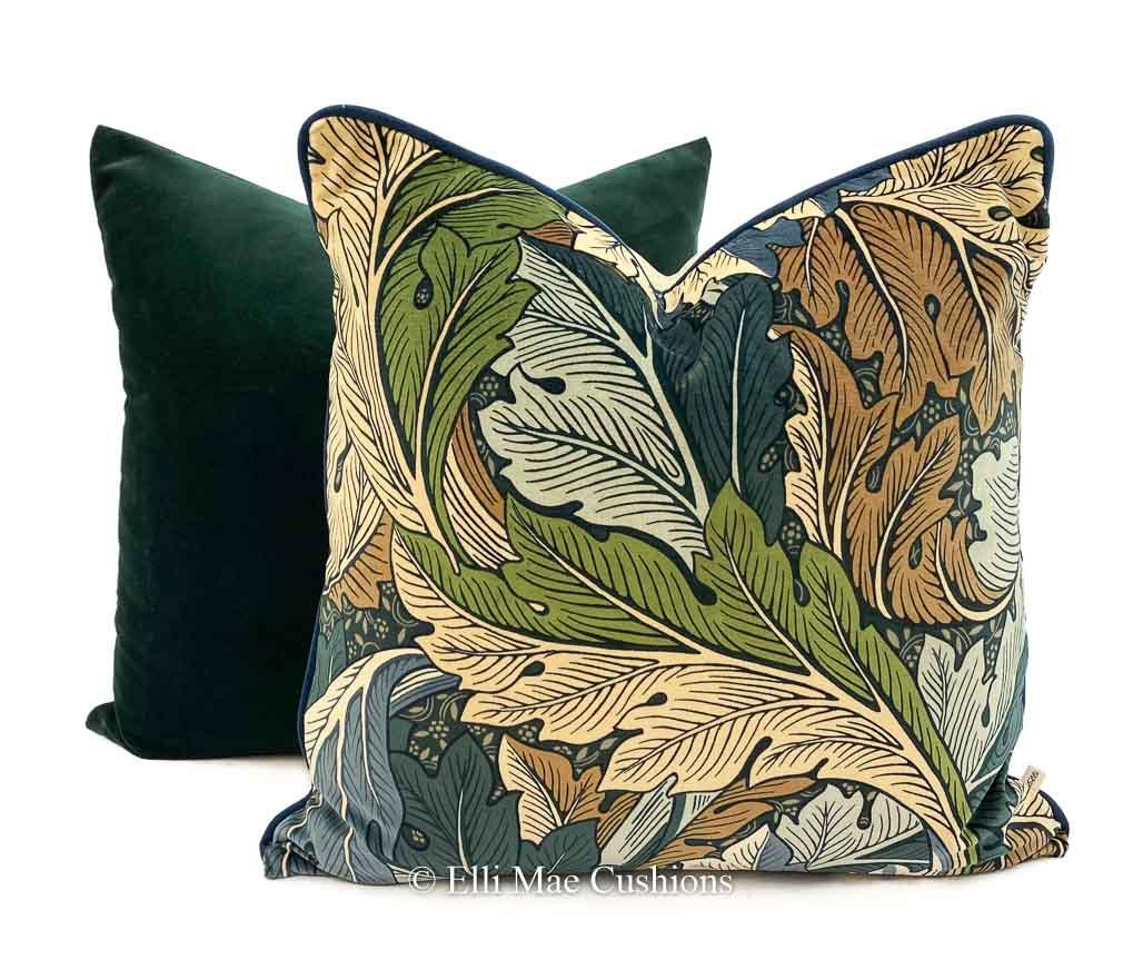 william morris acanthus luxury velvet cushion pillow cover