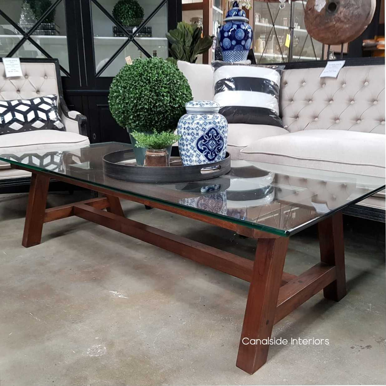 galaxy glass coffee table dark clearance sale sold out