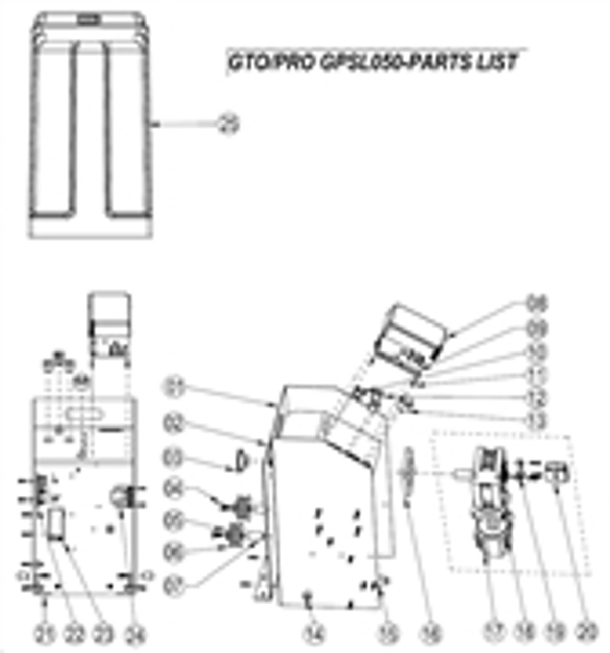 Gto Pro Gpsl050 Replacement Parts