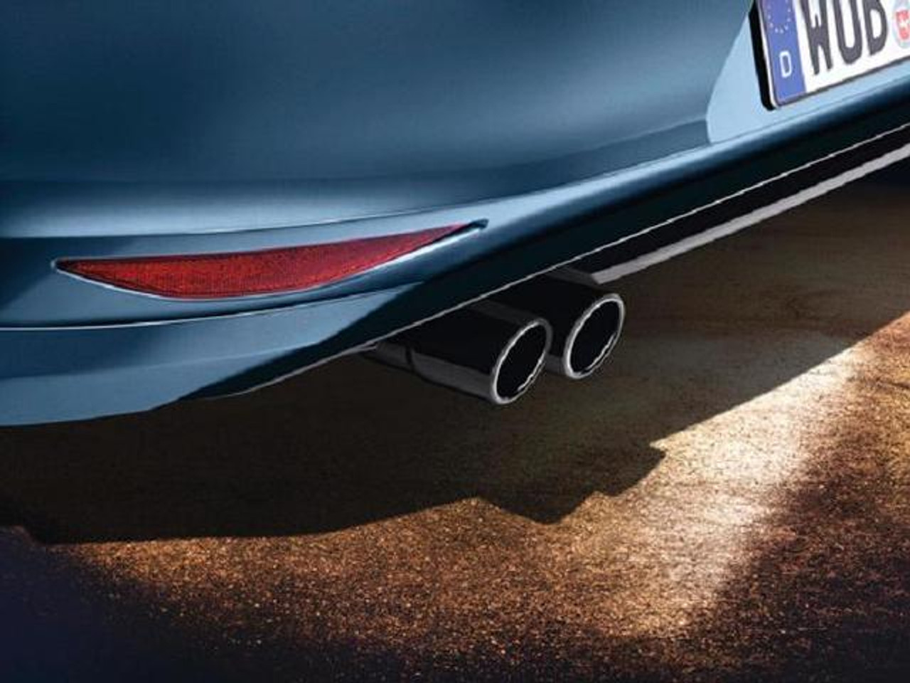2012 2019 vw beetle black stainless steel dual exhaust tips a020
