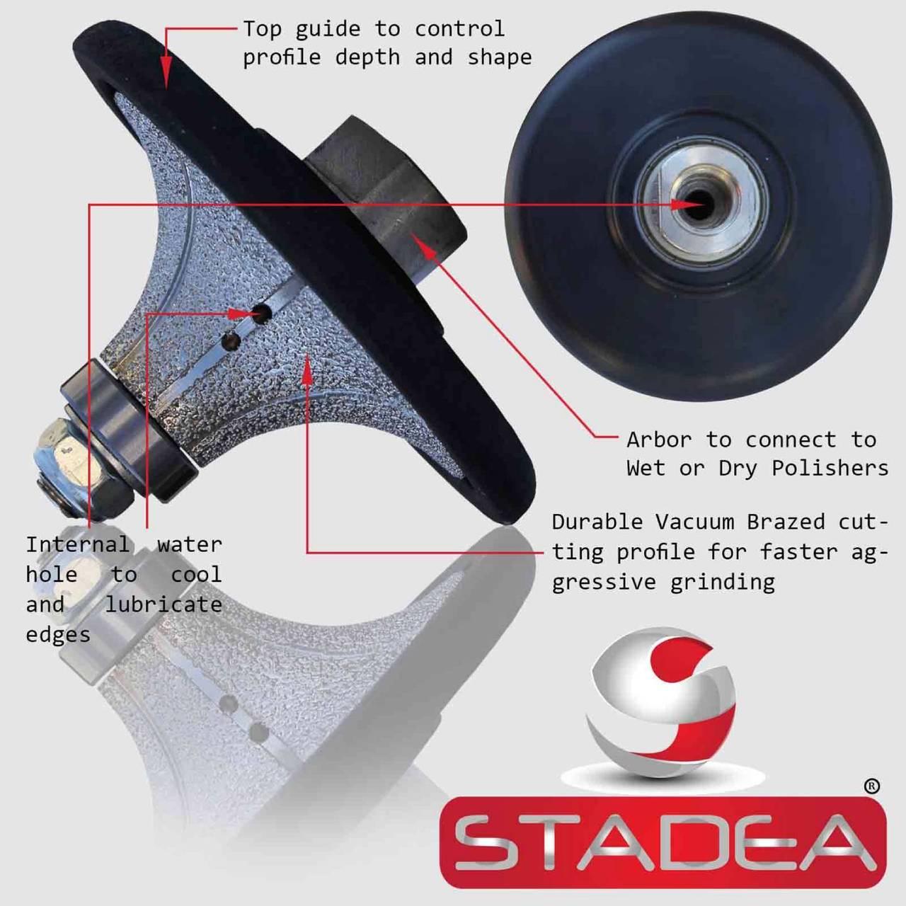 stadea diamond profile wheels radius half bullnose grinding shaping demi 1 1 4 grinder marble tile stone concrete profiling