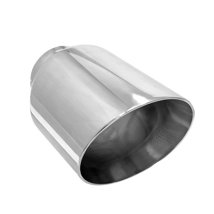 3 5 inch round slash cut mirror polished 304 stainless steel exhaust tip pe35015