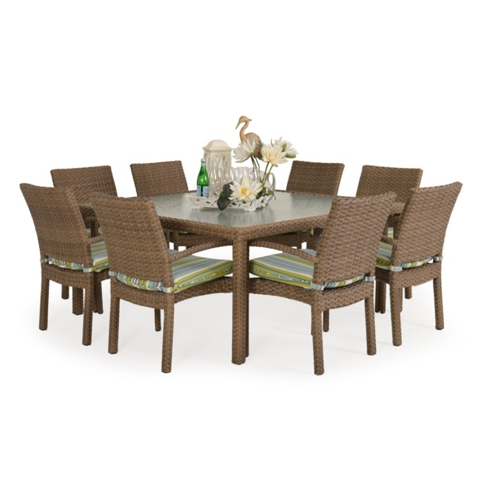 Kokomo Outdoor Stackable 9 Piece Dining Set In Oyster Grey Leaders Furniture