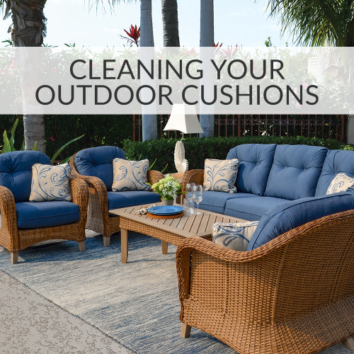 clean your outdoor cushions