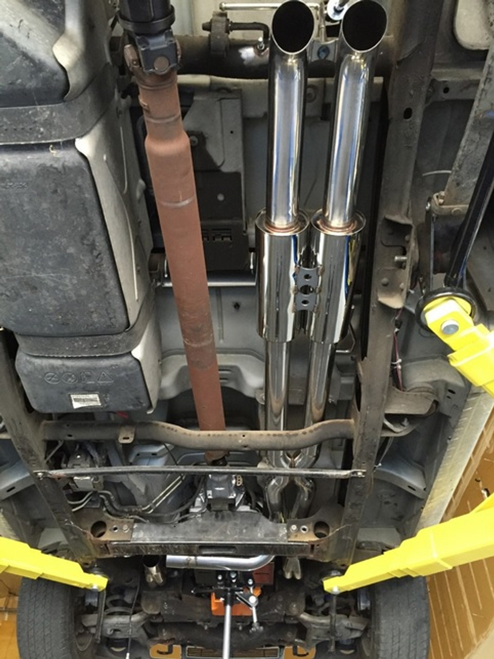 silverado sierra true dual exhaust system 1999 2018 single cab axle dump
