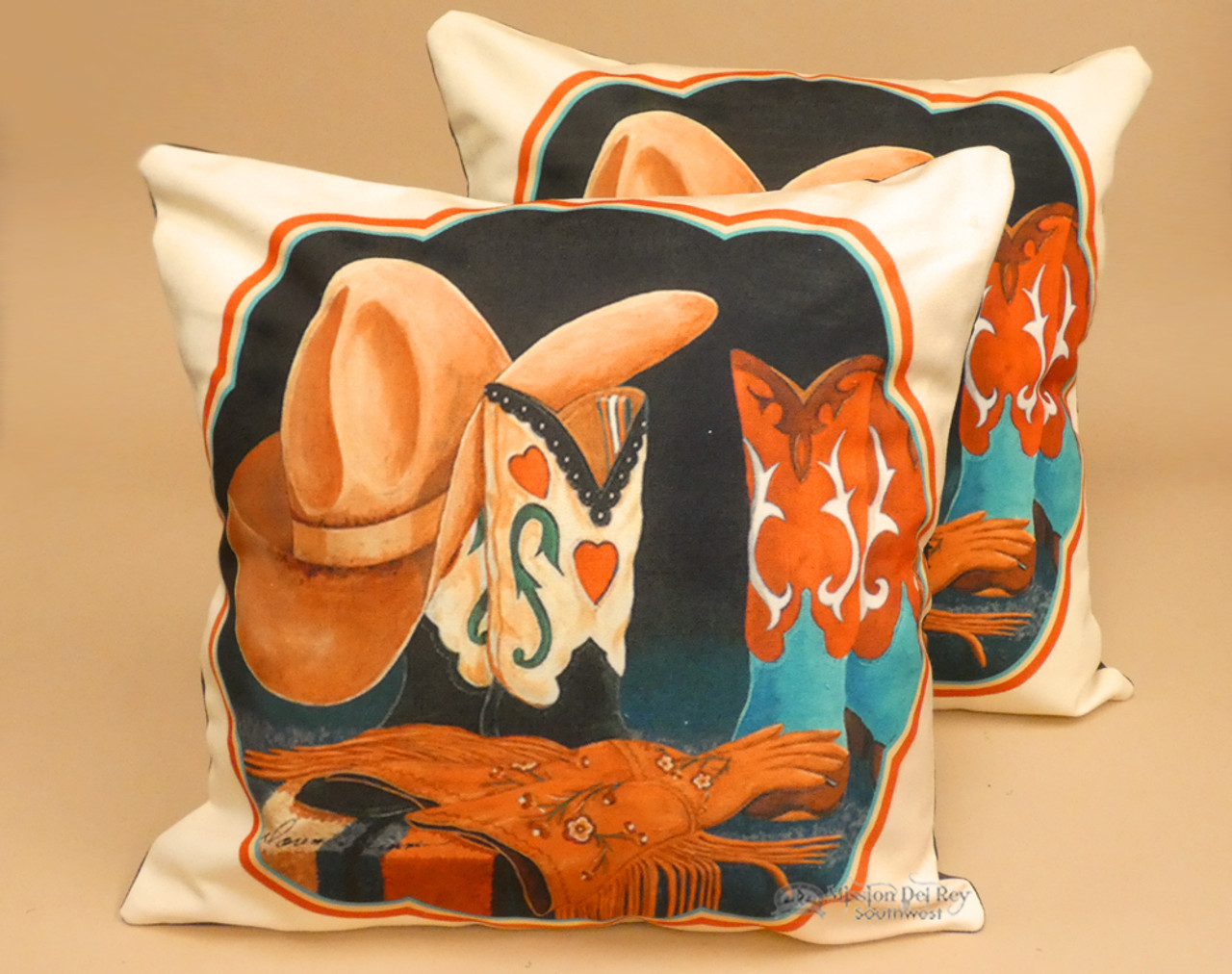 pair western pillow covers cowgirl boutique 18x18 dpc100a