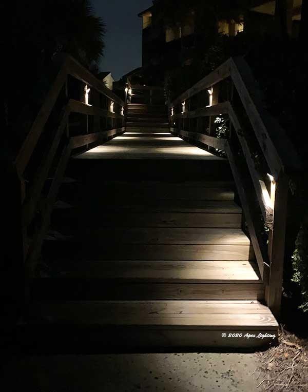 Kichler 15764 Half Moon Led Deck Light For Decks And Docks | Half Moon Wood Steps | Wooden | Hexagon | Diy | Outside Corner Deck | Exterior