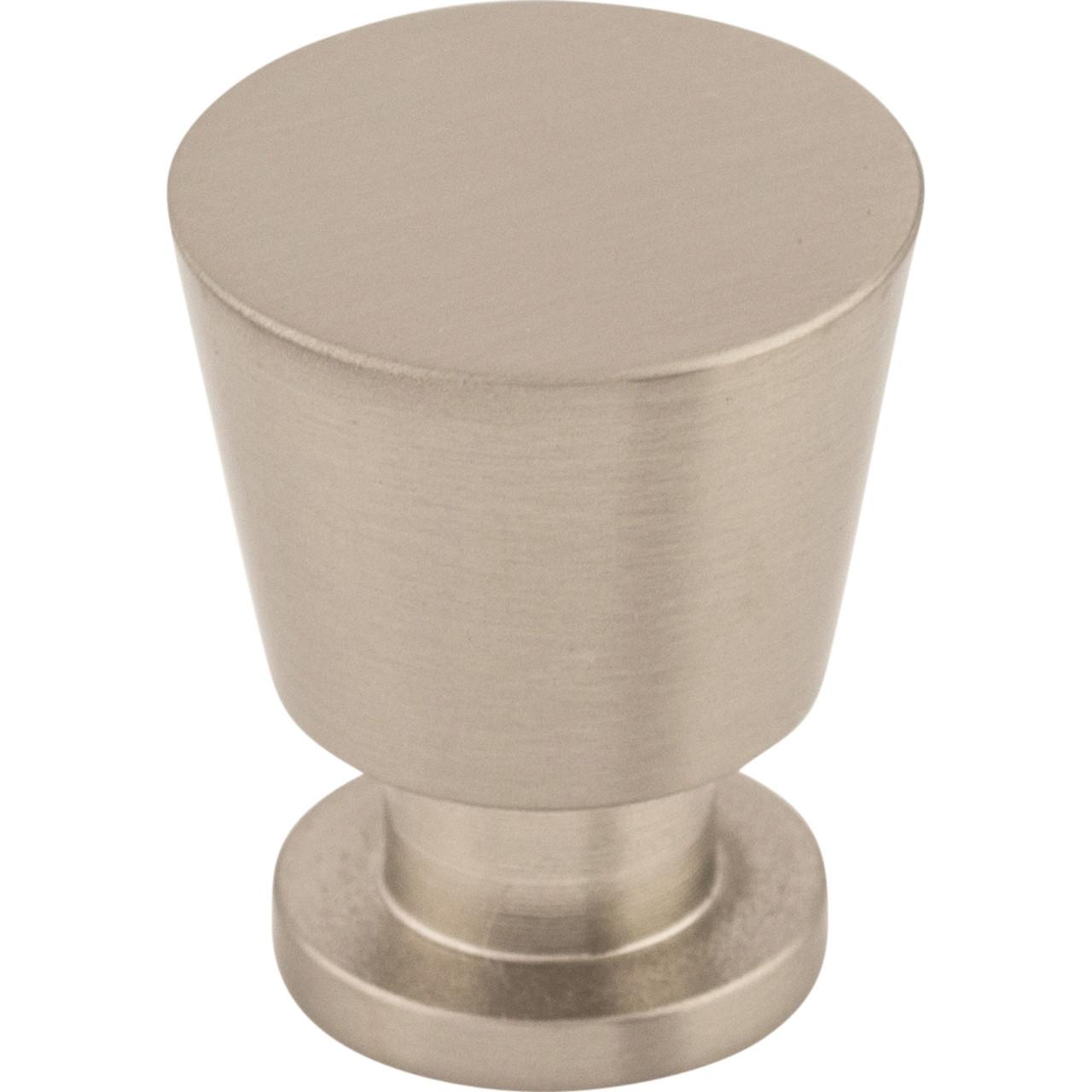Top Knobs M549 7 8 Rocks Tapered Cabinet Knob Brushed Satin Nickel
