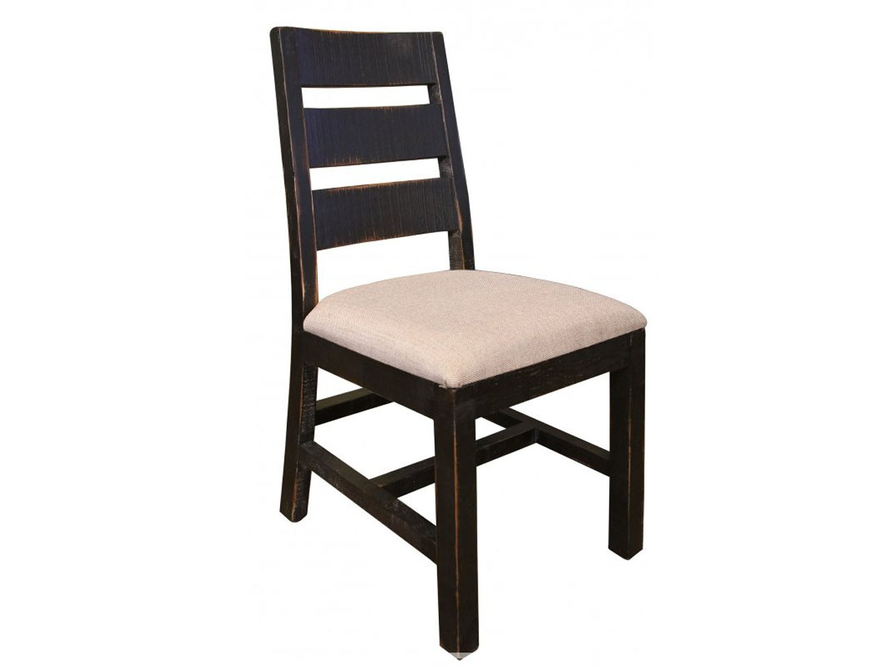 Rustic Black Ladder Back Chair