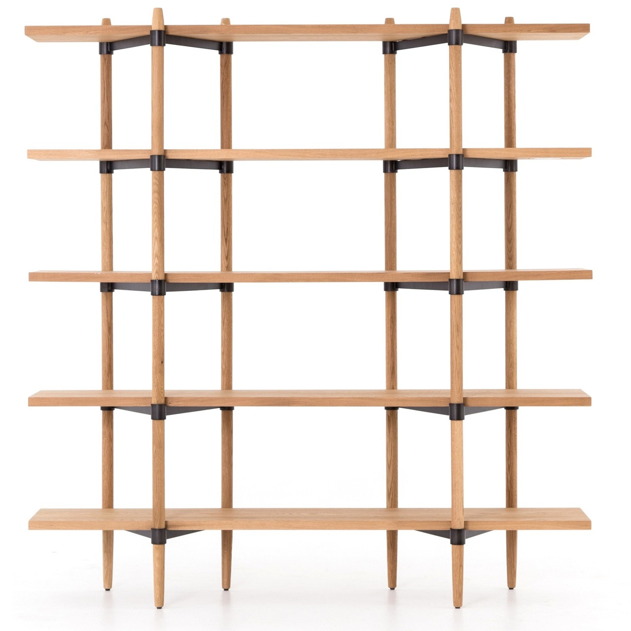 Danish Mid Century Modern Drift Oak Bookshelf