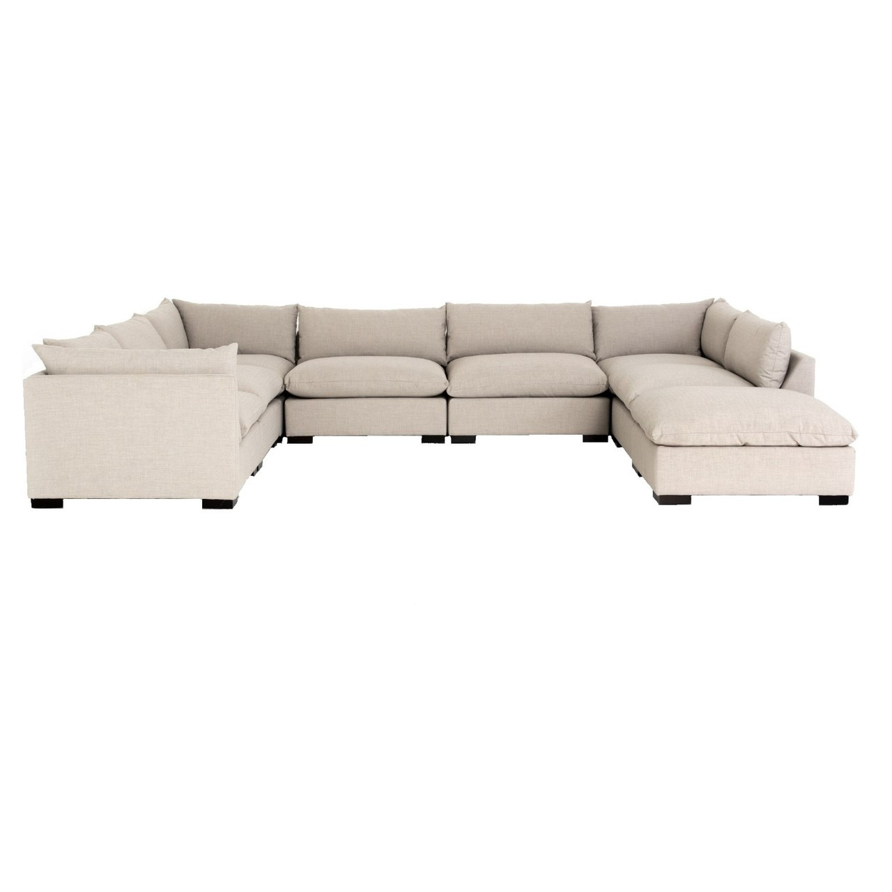Westworld Modern Beige 8 Piece U Shape Sectional Sofa 156