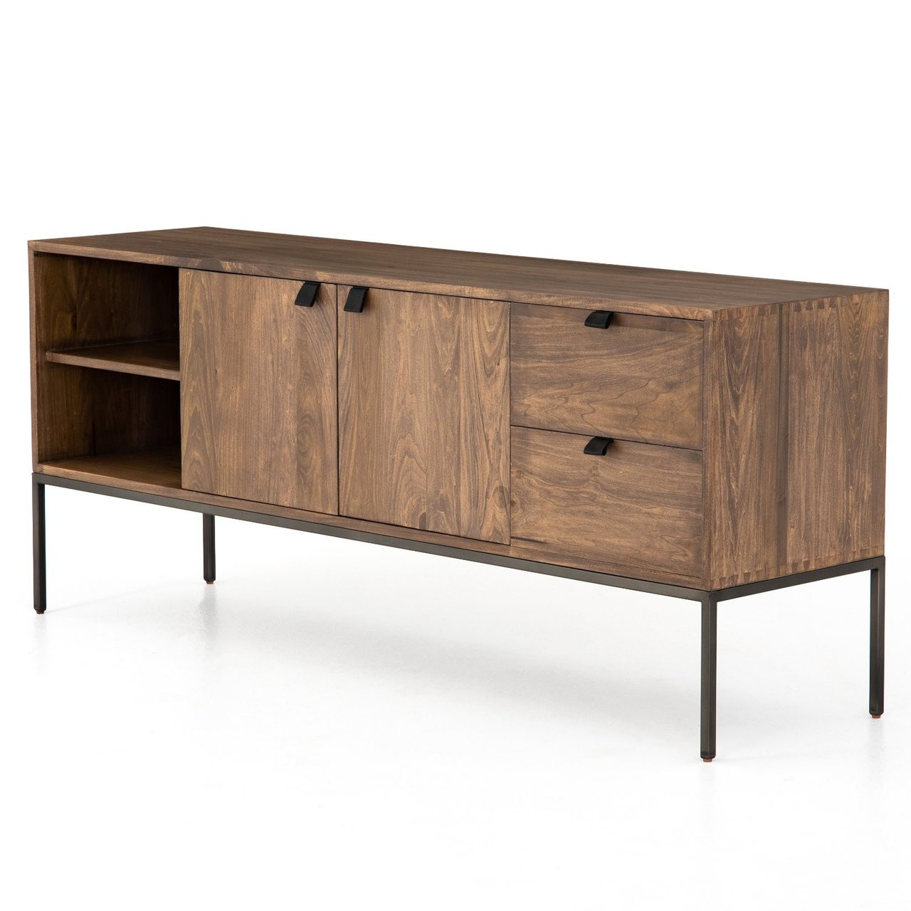 Fulton Industrial Modular Media Console Cabinet Zin Home ... on uttermost furniture, broyhill furniture, zuo modern furniture, jofran furniture,