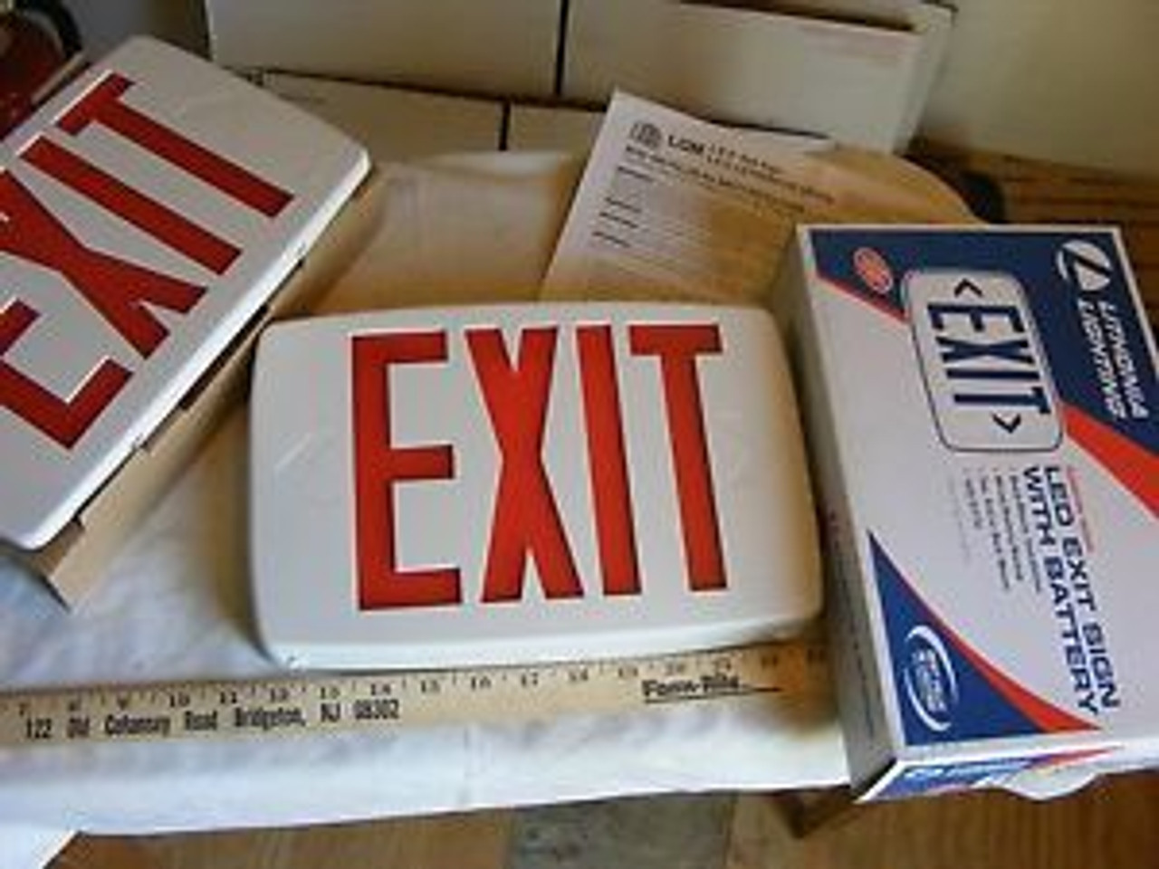 lithonia lighting led exit sign lqm s w 3 r 120 277 el n m6 w extra face plate