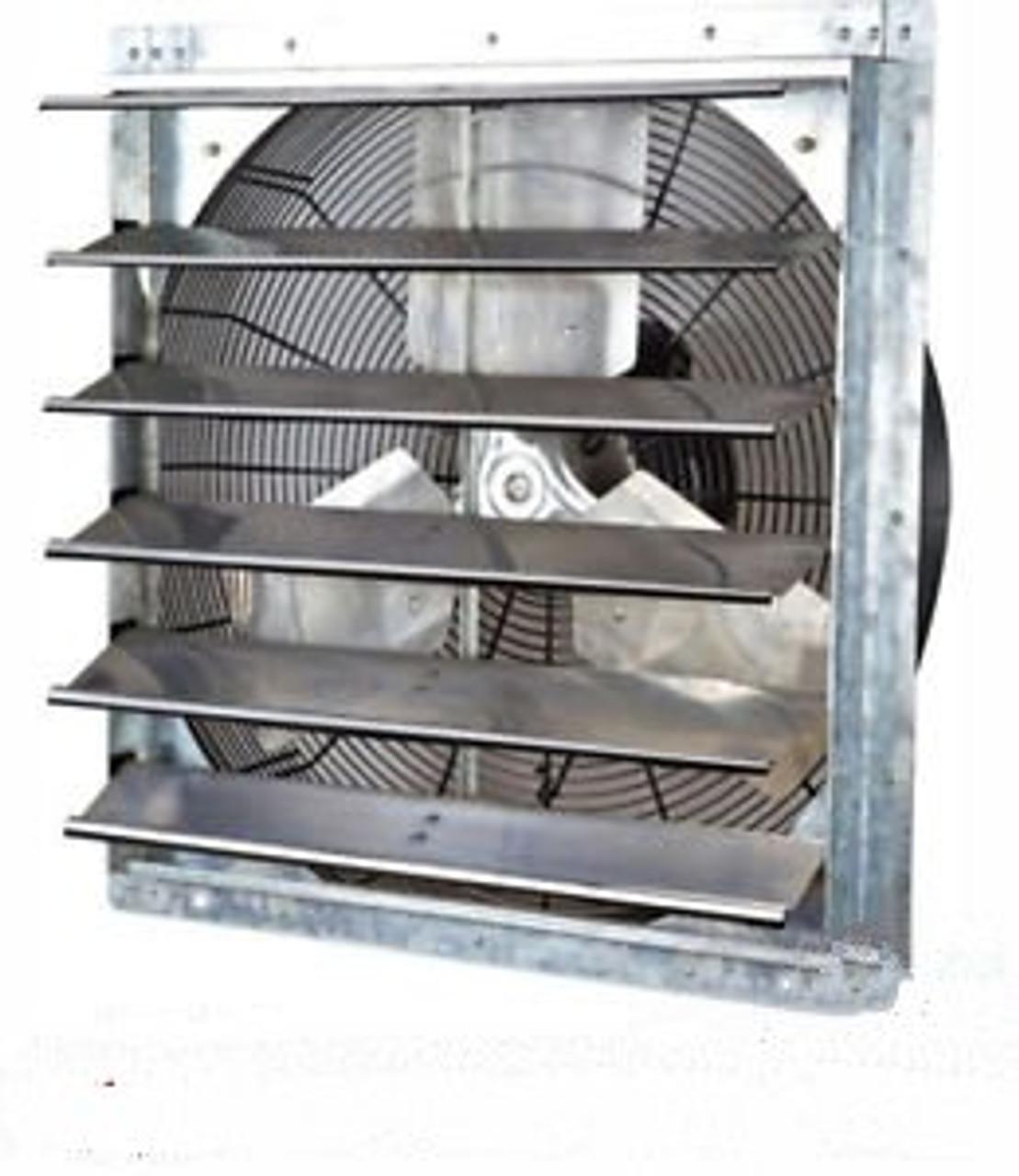 24 industrial exhaust shutter fan 3 speed wall mount 4200 cfm garage shop barn
