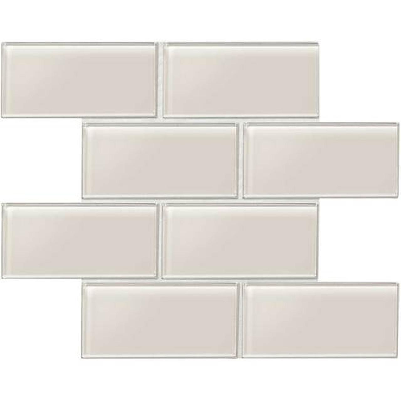 amity taupe subway glass tile 3x6
