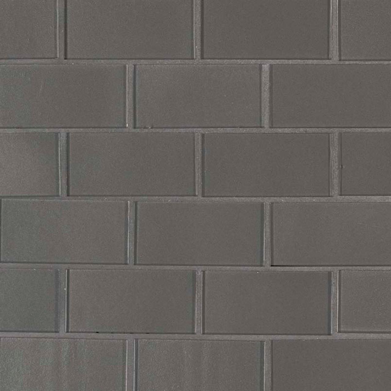 metallic gray subway tile 2x4 mosaic