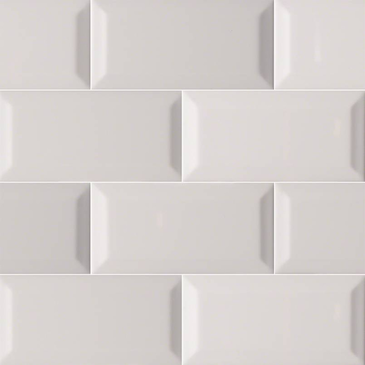 domino gray glossy beveled subway tile 3x6