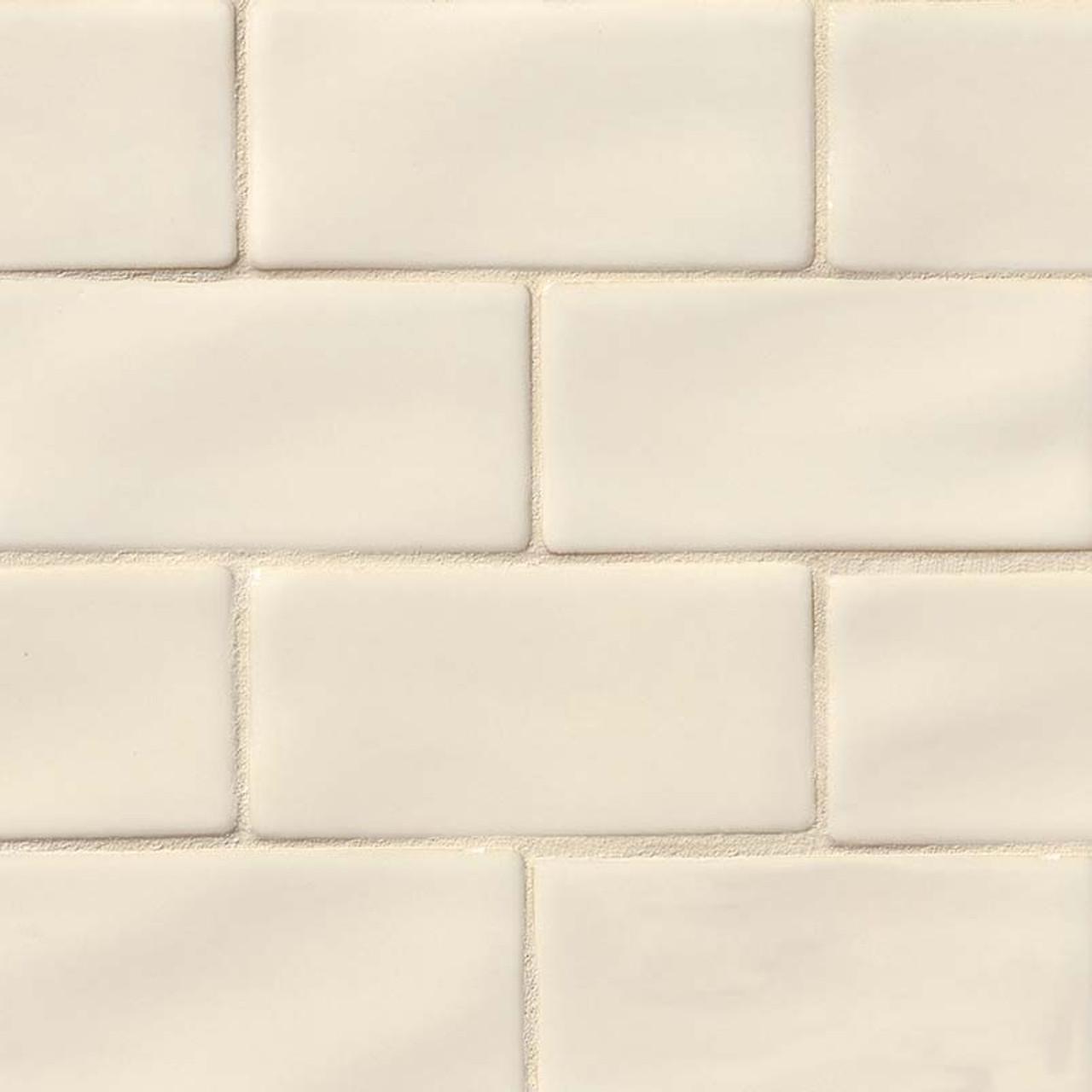 highland park antique white subway tile 3x6