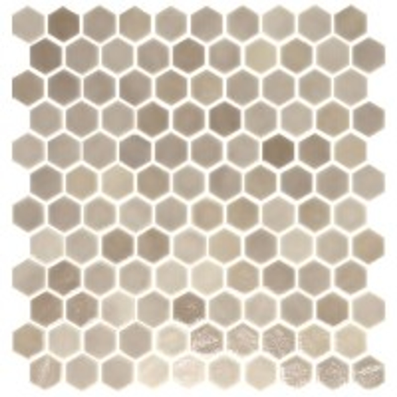 onix hex taupe malla glass 1 in hex mosaic