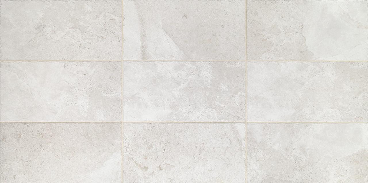 rochester white porcelain floor tile 12x24