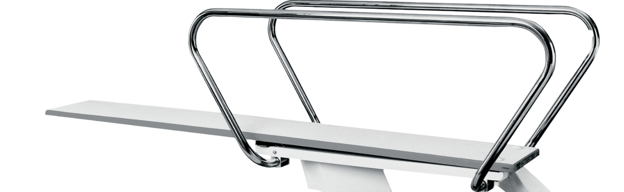 Commercial Pools Spas Sr Smith Diving Boards Waterline   Sr Smith Handrail Brochure   Ada   Stair Rails   Deck Mounted   Mer 1004   Art 1004