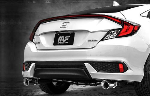 magnaflow catback exhaust system coupe honda civic 1 5t non si 2016 2020