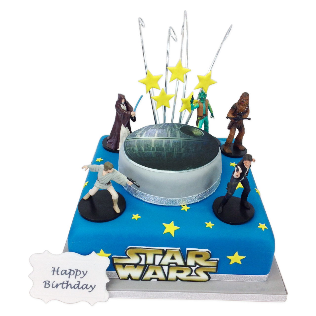 Star Wars Birthday Two Tier Cake The Cake Store