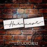 Harvest Script 2 Part Stencil By Studior12 Diy Fall Farmhouse Outdoor Home Decor Autumn