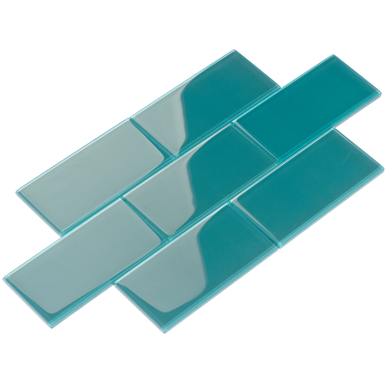 giorbello glass subway tile 3 x 6 dark teal