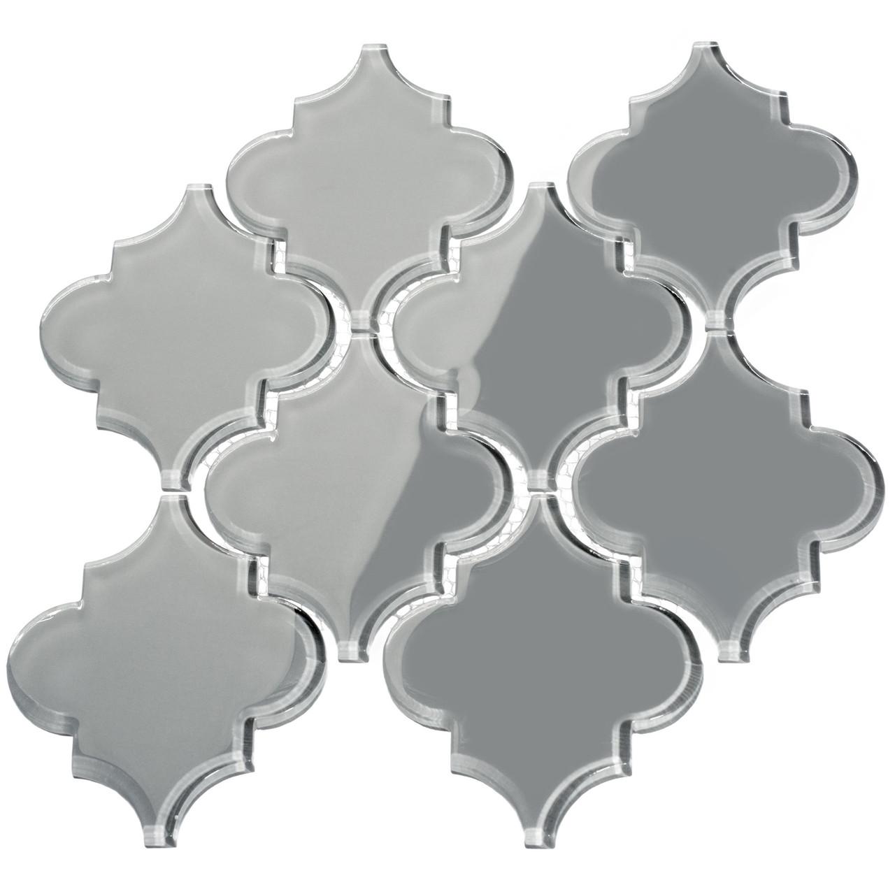 giorbello glass arabesque tile true gray