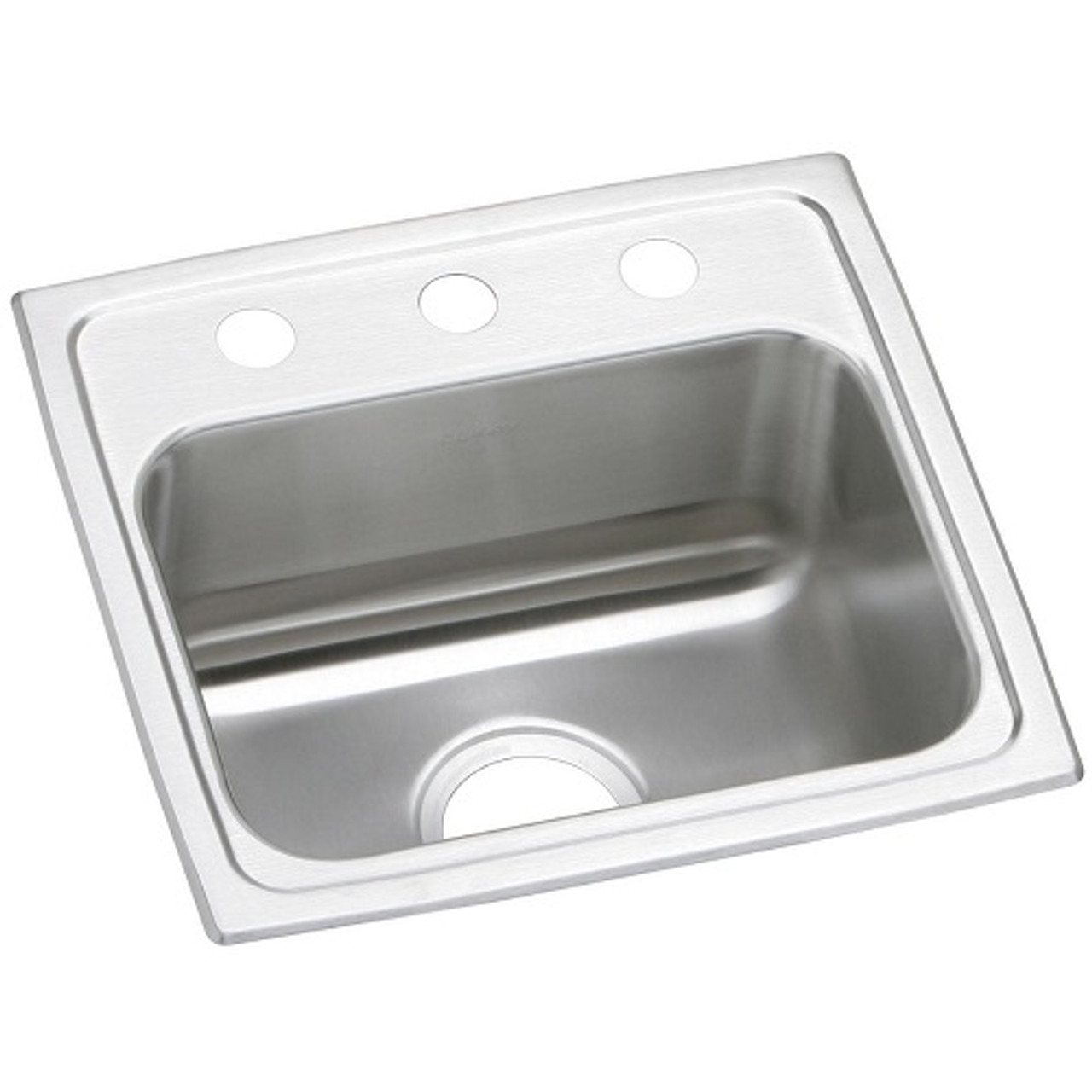 elkay psr1716 celebrity stainless steel 17 x 16 x 7 1 8 single bowl drop in sink