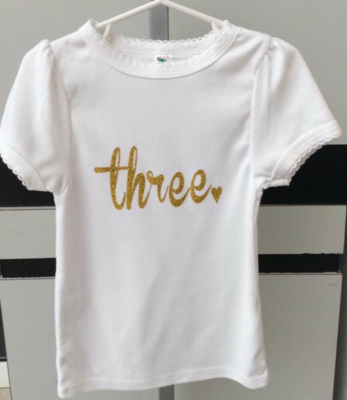 Girl S Three Shirt Girl S Third Birthday Shirt Girl S Birthday Shirt Third Birthday Outfit Third Birthday Girl S Shirts Toddler Birthday Shirts Sissy S Bags Boutique