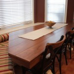 Custom Under Window Bench And Two Tone Table Gothic Furniture