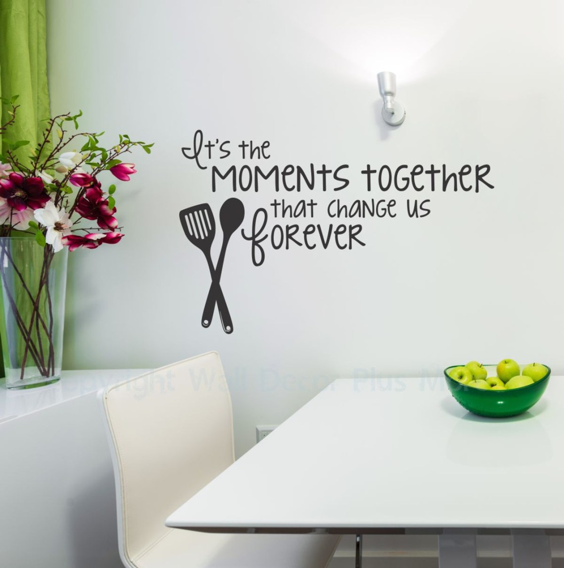 Moments Together Vinyl Wall Decal Family Saying For The Kitchen Decor