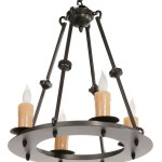 Small Wrought Iron Chandelier Custom Wrought Iron Lighting