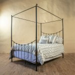 Wrought Iron Canopy Bed Frame King Size Iron Bed
