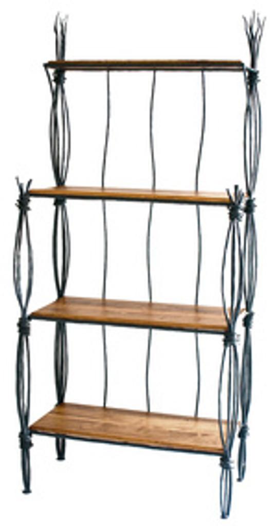 rush iron bakers rack 4 tier