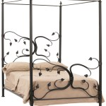 Queen Wrought Iron Canopy Bed Metal Tree Bed Frame