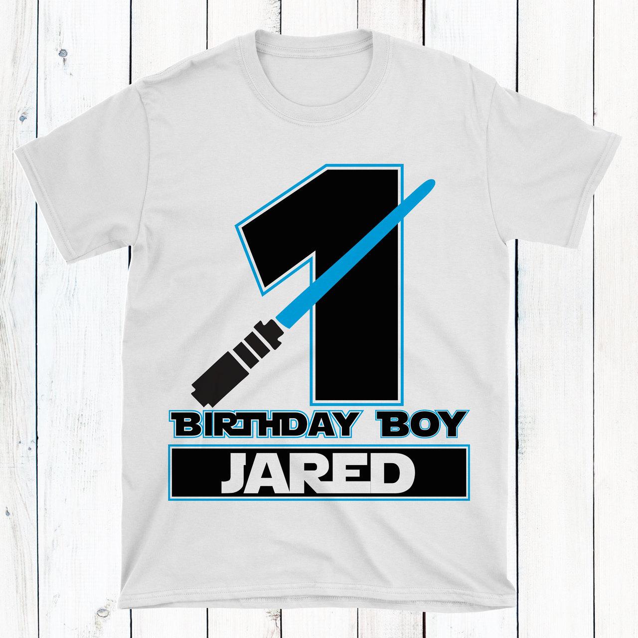 Personalized Jedi First Birthday T Shirt