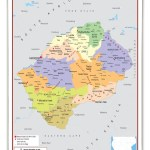 Lesotho Political Educational Wall Map From Academia Maps