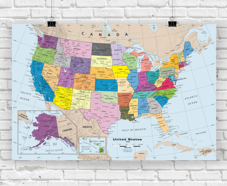 united states map posters