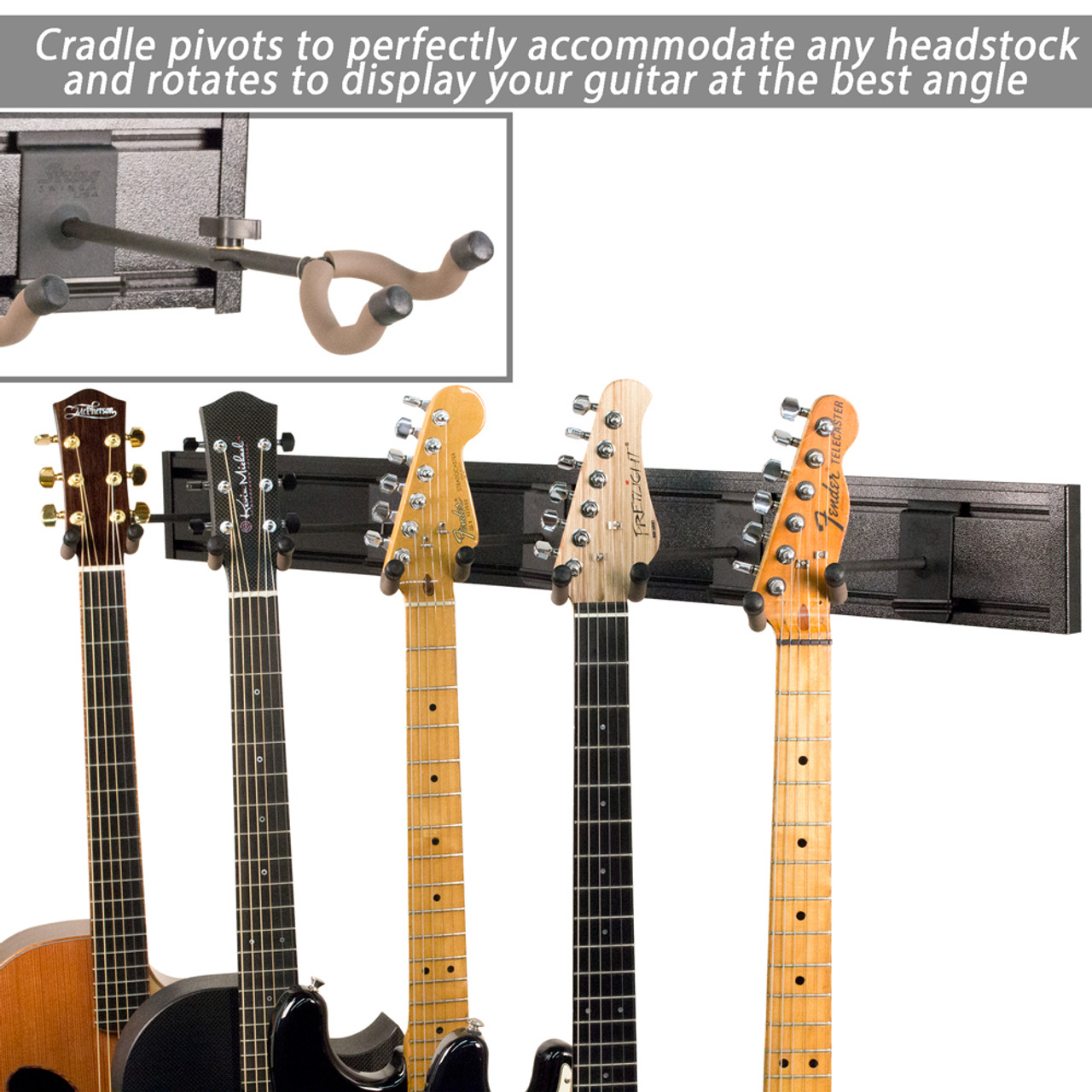 multi guitar wall rack sw5rl k